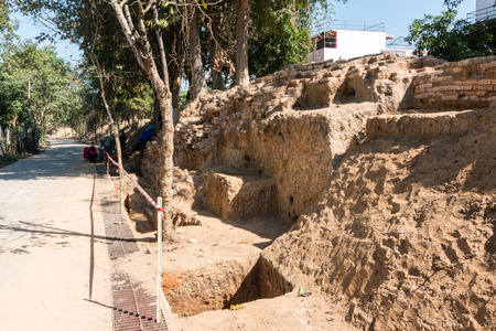 archaeological dig in asia Thailand.