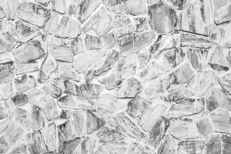 stone walls built by white cement black and white. Lizenzfreie Bilder