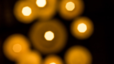 blurred Group of Bokeh gold.