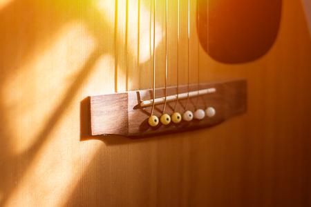 Close-up Guitar with sunrise
