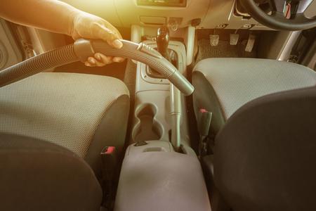 Vacuum Cleaner in Car in sunrise. Lizenzfreie Bilder
