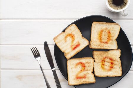 Concept of Top Breakfast Toast Set year 2020