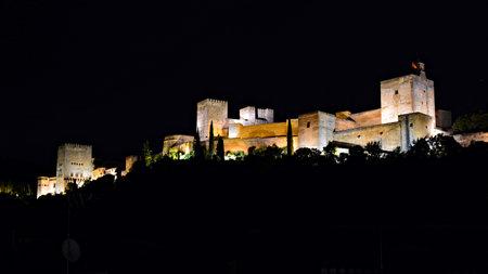 The Alhambra in Granada, Spain Imagens - 131743330