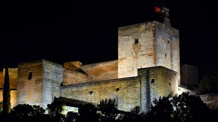 Alcazaba of the Alhambra of Granada, Spain Editorial