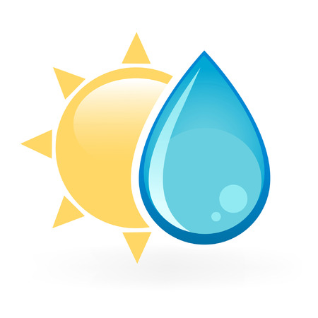 Sun and Rain Ilustracja