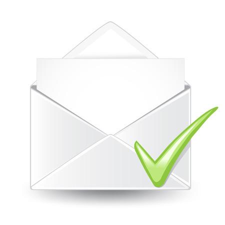 Email Check. Illusztráció