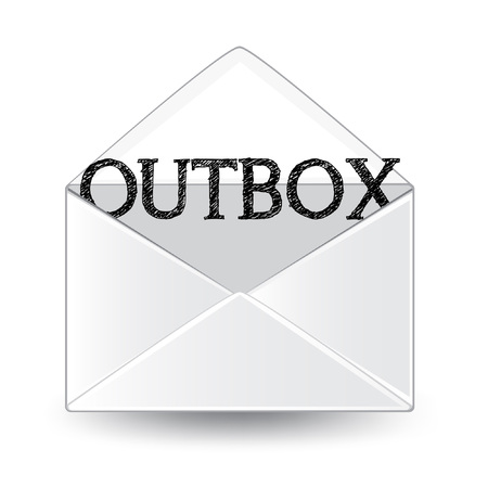 Outbox icon. Çizim