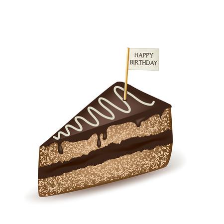 porcion de torta: Pastel de cumpleaños.