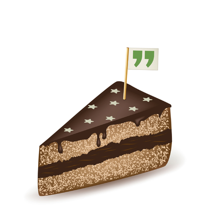 Quotation Mark Chocolate Cake.