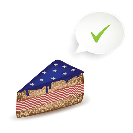 American Ok Cake. Illustration