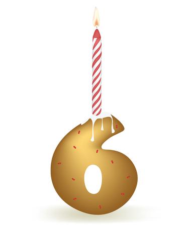Number Six Birthday Cake.