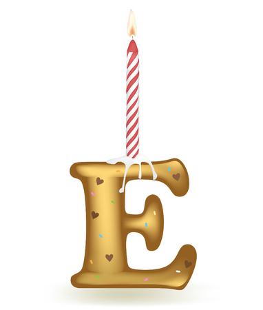 sprinkle: Letter E Birthday Cake.