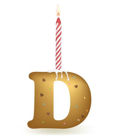Letter D Verjaardagstaart.