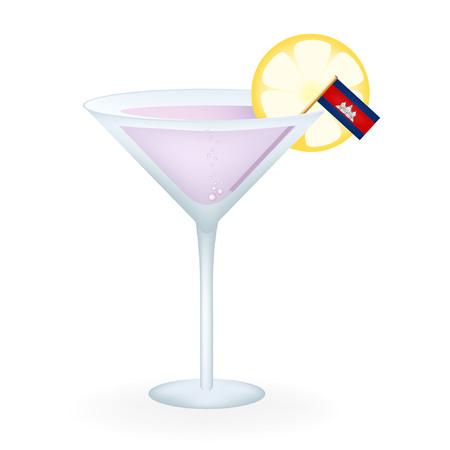 cambodian: Cambodia Cocktail Illustration