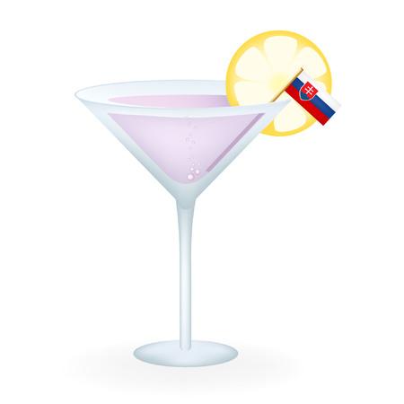 Slovakia Cocktail Illustration