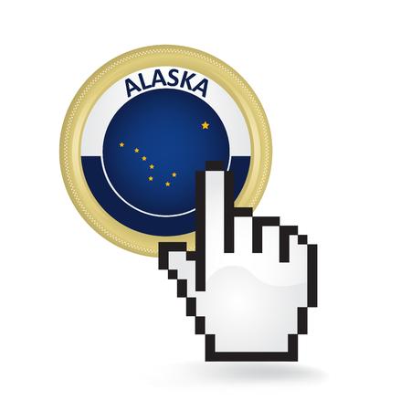 アラスカ ボタンをクリック