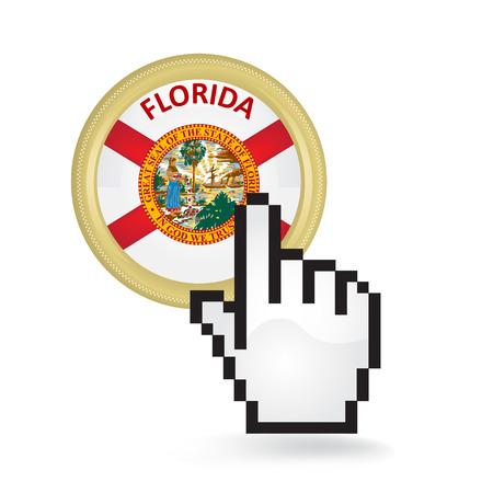 Florida Button Click  イラスト・ベクター素材