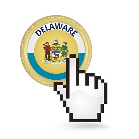 Delaware Button Click  イラスト・ベクター素材