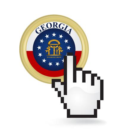 Georgia Button Click  イラスト・ベクター素材