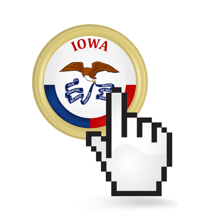 Iowa Button Click Ilustrace