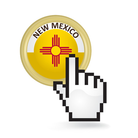 New Mexico Button Click Ilustracja
