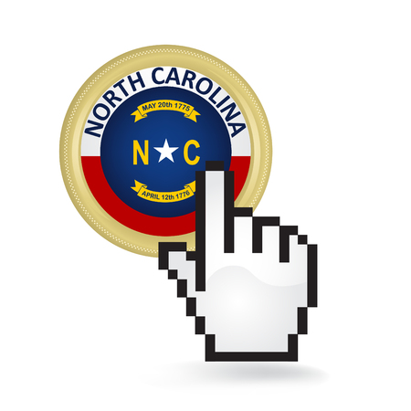North Carolina Button Click