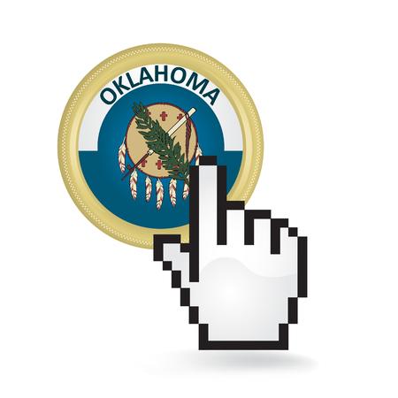 Oklahoma Button Click Archivio Fotografico - 77462807