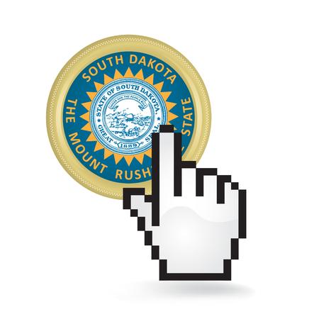 South Dakota Button Click