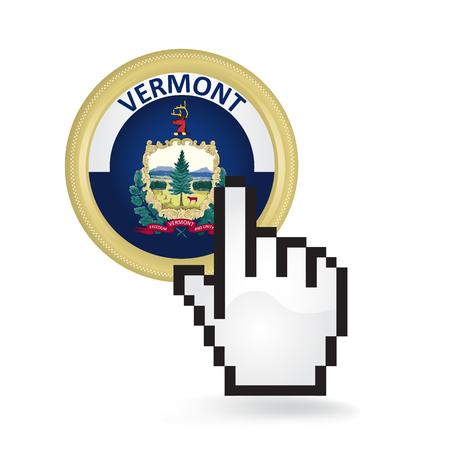 Vermont Button Click  イラスト・ベクター素材