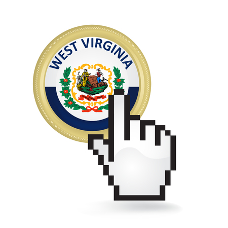 West Virginia Button Click Ilustrace