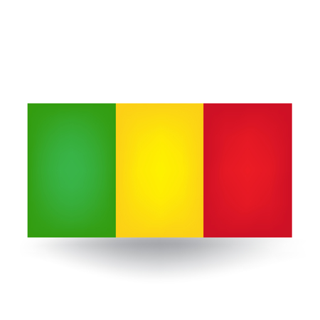 mali: Mali Flag Illustration