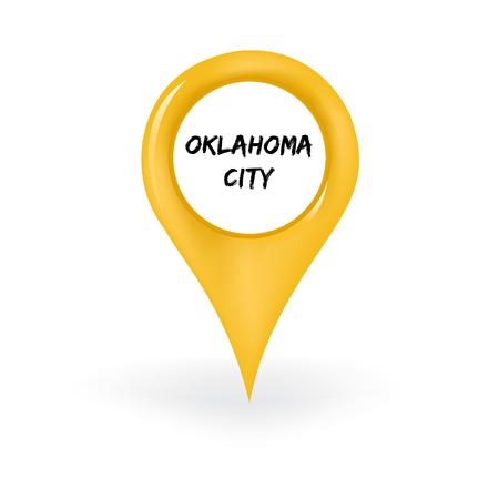 oklahoma city: Oklahoma City Location Illustration