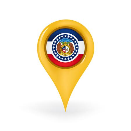 geolocation: Location Missouri Illustration