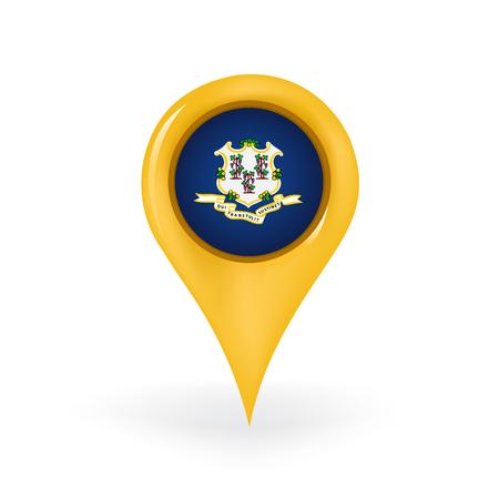 Location Connecticut  イラスト・ベクター素材