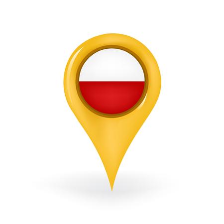 bandera de polonia: Ubicación Polonia Vectores