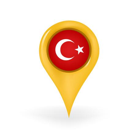 Location Turkey Illustration