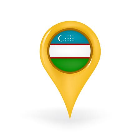 Location Uzbekistan Illustration