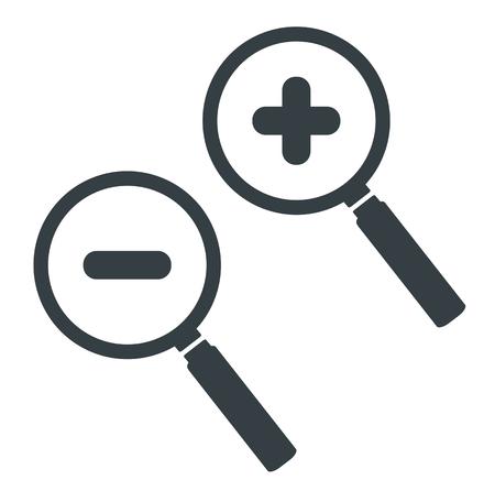 zoom en alejar icono Ilustración de vector