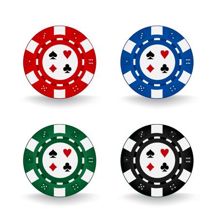 Poker Chips isolated on plain background