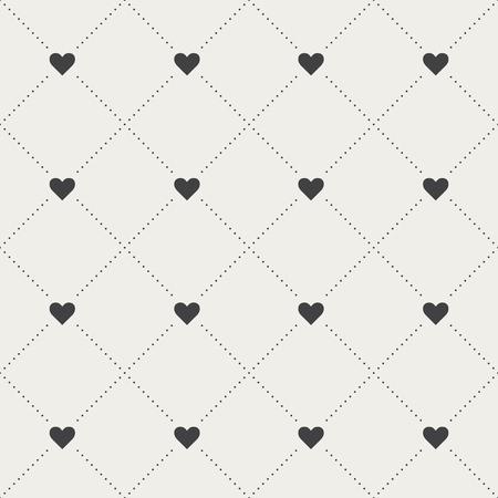 Seamless Heart Pattern Vector illustration.