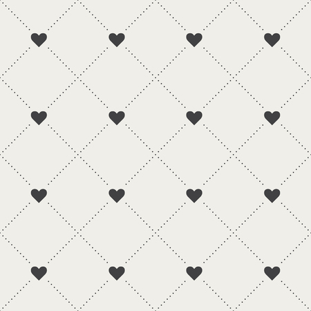 Seamless Heart Pattern Vector illustration.