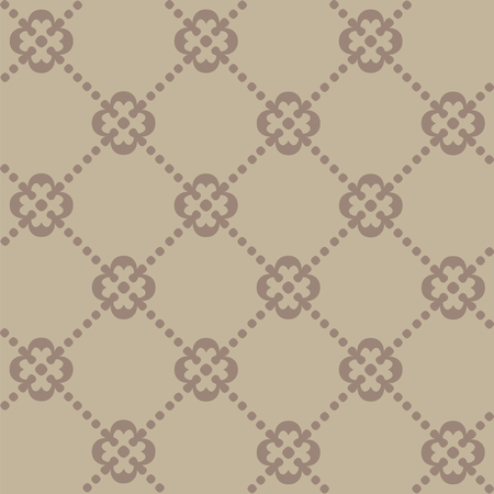 Brown seamless decorative pattern in the shape of diamonds