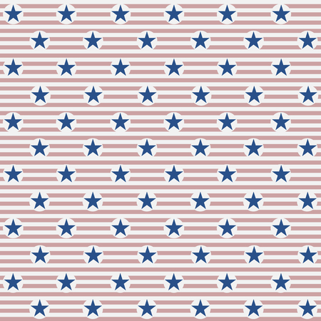 Seamless American Flag Pattern