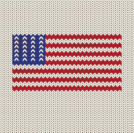 Flag Of The United States Of America Knitted Background