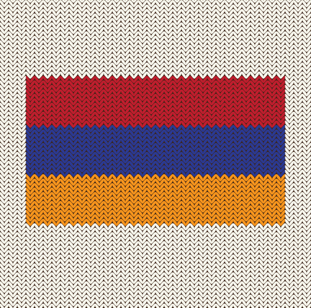 Flag Of Armenia Knitted Background  イラスト・ベクター素材