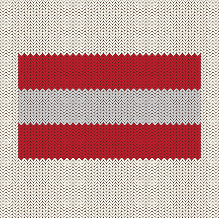 Flag Of Austria Knitted Background