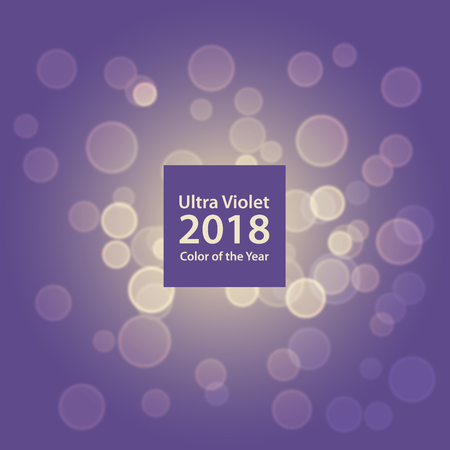 Ultra Violet Pantone Color Of The Year 2018 Bokeh Background