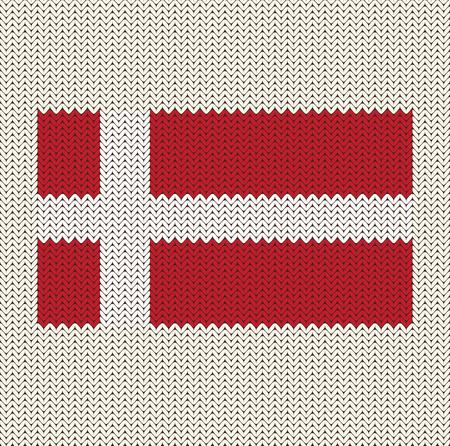 Flag Of Denmark Knitted Background