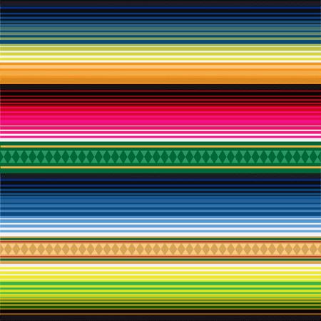 Patrón sin costuras alfombra mexicana