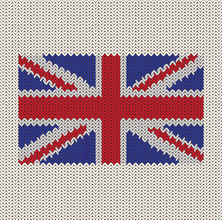 Flag Of England Knitted Background